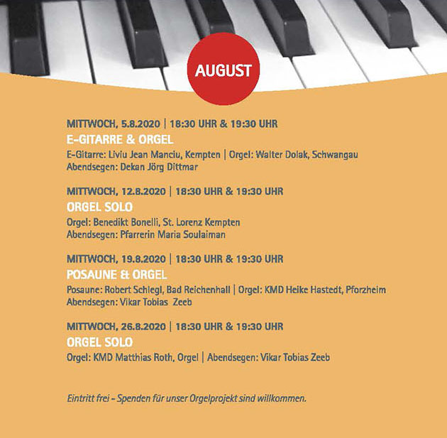 Sommermusik 2020_August