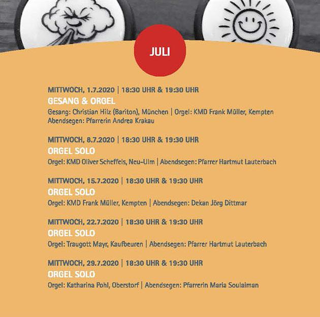 Sommermusik Juli_Programm