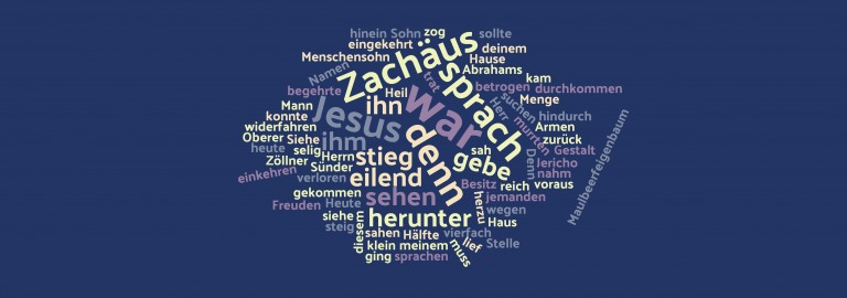 Word cloud Zachäus